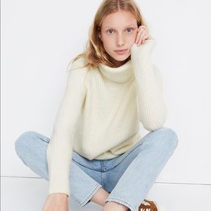 Madewell Mercer Turtleneck Sweater Coziest Yarn